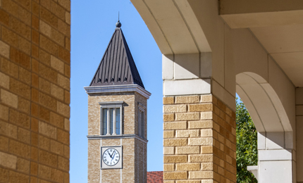 Clock tower of Brown Lupton University Union