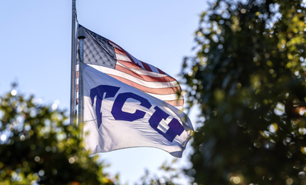 TCU and US flags
