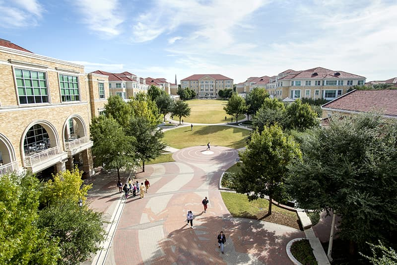 TCU Commons overhead photo