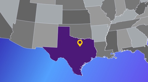 Fort Worth is located almost in the middle of the southern half of the US