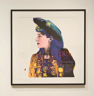Cowgirl serigraph by Andy Warhol in the TCU Moudy Gallery