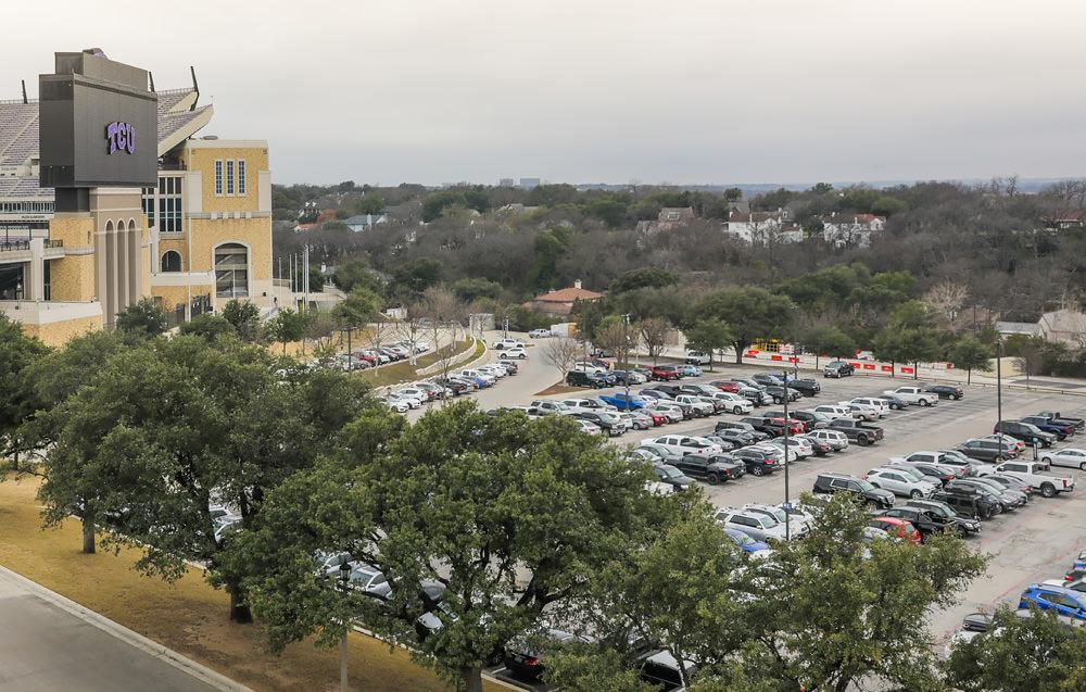 TCU football parking lot